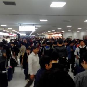 成田空港は大変なことになっている。
