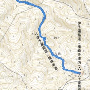 横峰寺さんトレッキング 雨が降り始め、お参りはかなわず