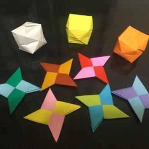 折り紙いろいろ折ってみました。まずは初級編。ら