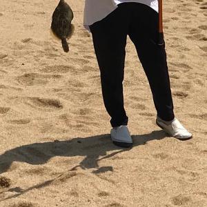 背後から見続けて釣りを覚えたねぇさん
