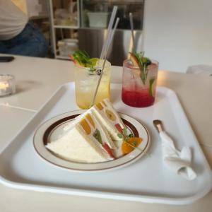 【韓国カフェ】文化社のフルーツサンド