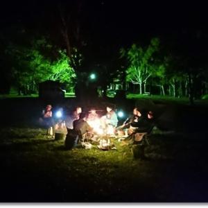 高原は秋!! 送別キャンプに仲間が集う 白滝高原キャンプ場