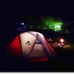 山々しい森林キャンプ 最後も穴場のキャンプ場