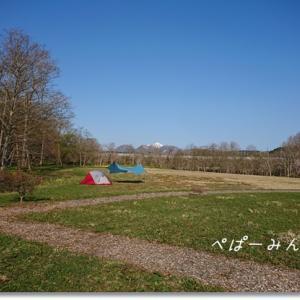 広々草地でソロキャンプ!!  ほぼほぼ北海道最南のキャンプ場