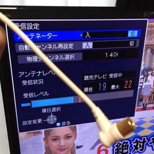 線1本でも変わるテレビの受信レベル