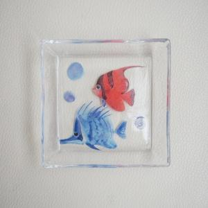 デコパージュ作品を究極のガラス仕上げ