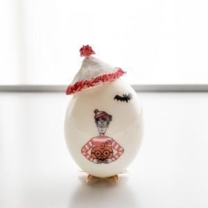 ウォーリー の卵で飾るハロウィン