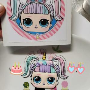 娘の誕生日はLOLとユニコーンのアイシングクッキー