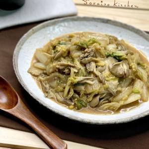 【レシピ】秋と冬を、ご飯にのせて♪白菜と舞茸のピリうま麻婆風炒め♪