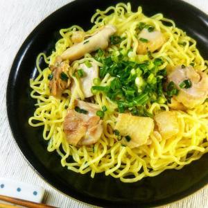 【レシピ】あっさり×がっつり★鶏肉とネギの旨塩焼きそば★
