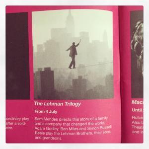 【観劇レポ】ナショナル・シアター・ライブ『リーマン・トリロジー』(The Lehman Trilogy)《2020.2.20》