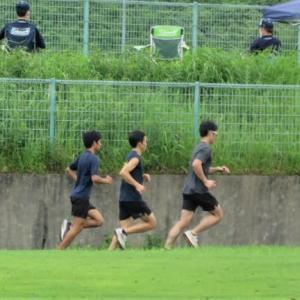 5000mウェーブ走(クロカンコース)、体幹トレーニング!