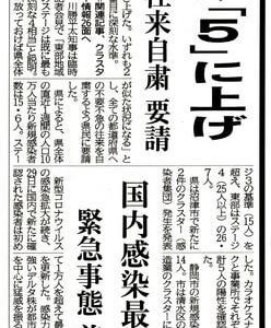 新型コロナウィルスの感染状況【県警戒レベル「5」】❕