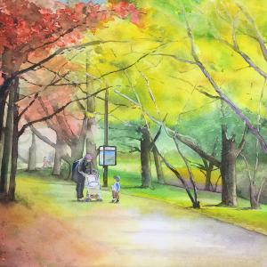公園も秋色に染まる