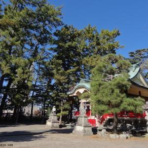 元城町東照宮(静岡県浜松市)|徳川家康公と豊臣秀吉の銅像が並ぶ神社
