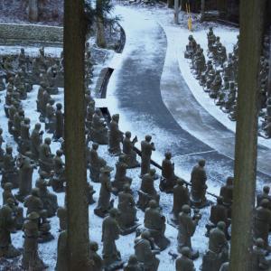 お遍路一標高の高いお寺!第66番「巨鼇山 千手院 雲辺寺」は雪の中の五百羅漢像と巨大毘沙門天が幻想的だった