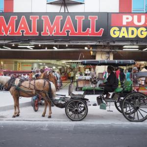 列車でスラバヤからジョグジャカルタへ!インドネシアの古都ジョグジャカルタは馬車の音が鳴り響く風情ある街並みだった