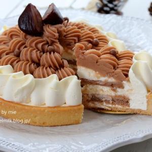 LikeSweetsBOX10月のケーキ #和洋栗のモンブラン