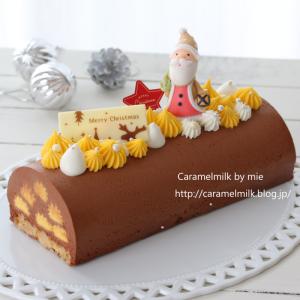 クリスマスケーキ 2020 マンゴーパッションのブッシュドノエル(レシピあり)