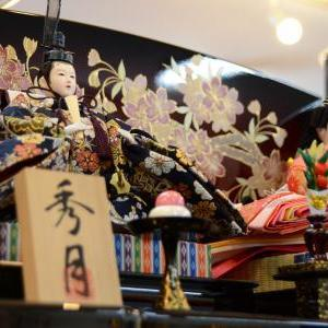 掛川市のM様は高級感漂う華やかな三段飾りのお雛様