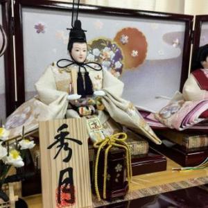 菊川市のM様は秀月オリジナルのお洒落な収納箱飾りのお雛様