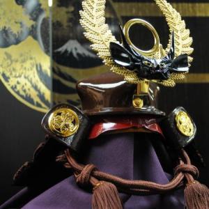 浜松市南区のK様は徳川家康公の珍しい大黒頭巾の兜飾り