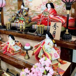 御前崎市のM様は大型の豪華な高級三段飾りのお雛様