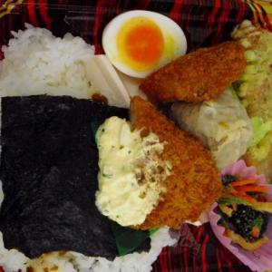 タルタル白身魚フライ海苔弁当