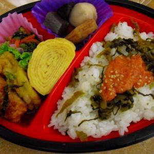 明太子&高菜飯弁当
