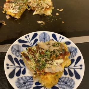 シャキシャキ山芋と豚&小エビのミックスお好み焼き (いしん 小倉北区 )