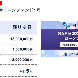 【SAMURAI出資】SAF日本保証不動産ローンファンド1号