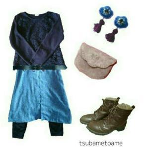【少ない服で着回す】花柄ガウンワンピースの秋コーデ《10月上旬》