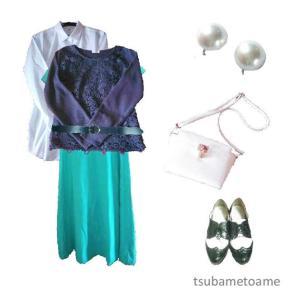 【少ない服で着回す】3枚のマキシワンピースの秋コーデ《11月上旬》