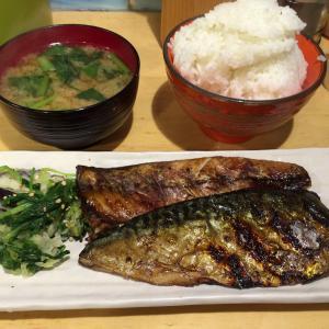 今週締めのランチは、あのお店で焼魚定食を頂きました。