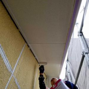 屋根・外壁リフォーム ⑦ 軒天&屋根の下塗り