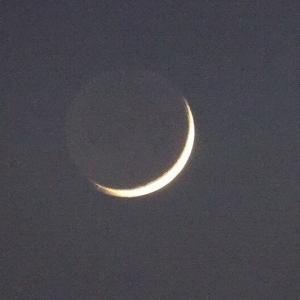 細いお月さま 発見