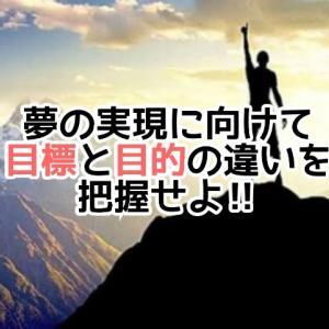 夢の実現に向けて、まずは目的と目標の違いを把握せよ‼