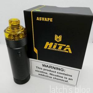 VAPEレビュー ASVAPE(アズべイプ)HITA(ヒタ )Mech Pod System Kitを使ってみました!