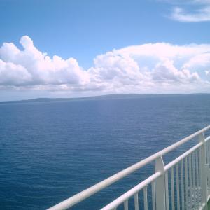 (122)船上で旅の終わりに乾杯!