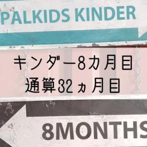 パルキッズキンダー8カ月目の効果(通算32カ月)