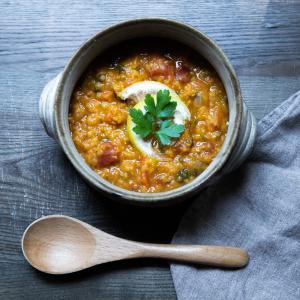 チリ入りレンズ豆のスープ(モロッコ)