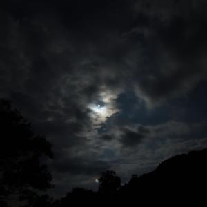 2020/6/21の部分日食 IN 猪苗代湖上戸浜