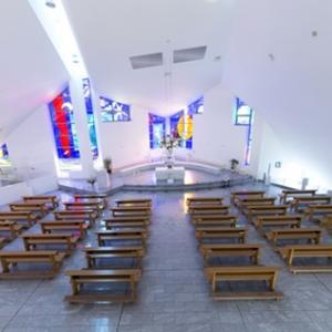 メイソン教会として建て替えられた山口サビエル記念聖堂 ② 【聖堂内シンボル】