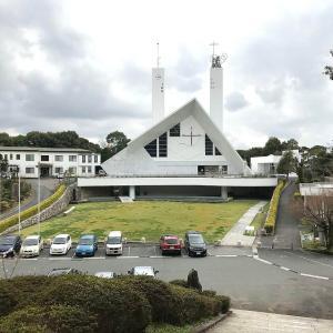 メイソン教会として建て替えられた山口サビエル記念聖堂⑤  【鐘塔、屋外】