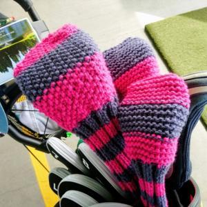 手編みゴルフカバーのデビュー ~ 買い物控えて家にあるもので手巻き寿司