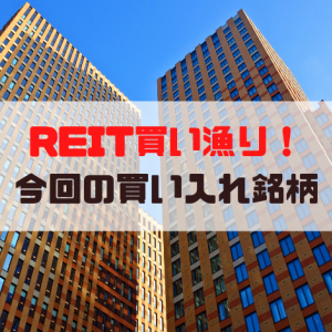 【J-REIT】REITを買い漁った結果のポートフォリオ構成