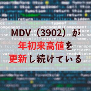【日本株】メディカル・データ・ビジョンが年初来高値を更新中