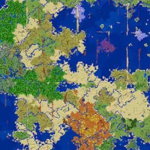 【V1.11再訪版】レアバイオームに囲まれた神スタート!海の中心や化石も発見!海底神殿多数!チェスト多数! ☆ 784913433 ☆