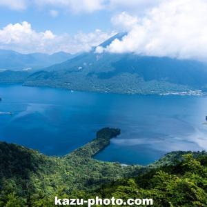 半月山展望台から中禅寺湖と八丁出島を撮影@栃木の絶景写真スポット