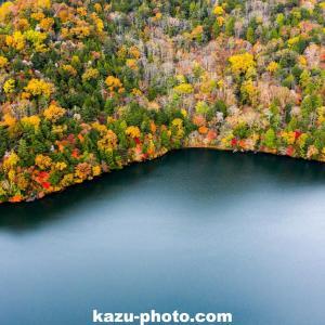 湯ノ湖の紅葉をドローンで空撮@栃木県 奥日光の絶景名所スポット!